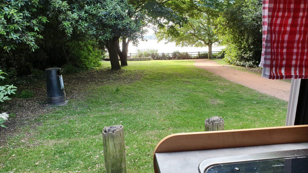 Blick aus dem Camper auf den Severn River