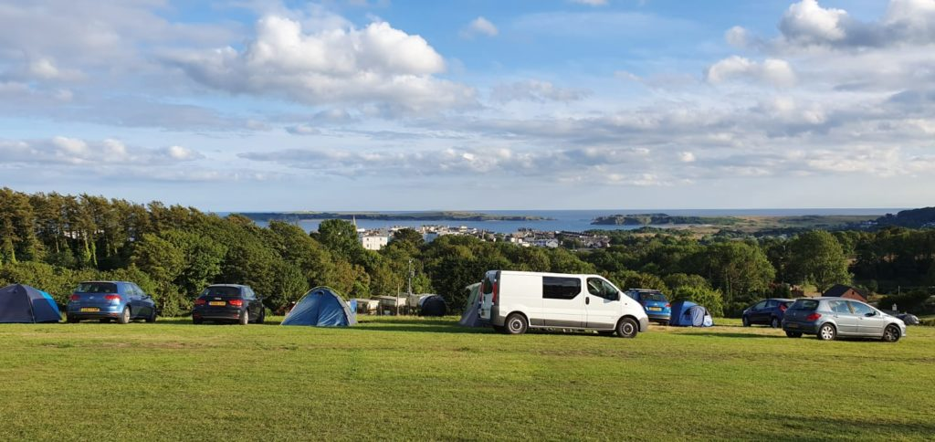 Geheimtipps Wales - Tenby Campingplatz - Aussicht aufs Meer