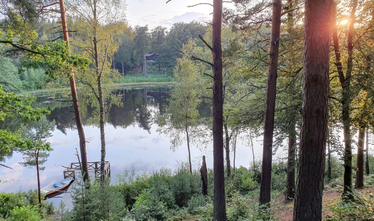 Schwiegermutter auf Weltreise in Schweden - Blick auf den See