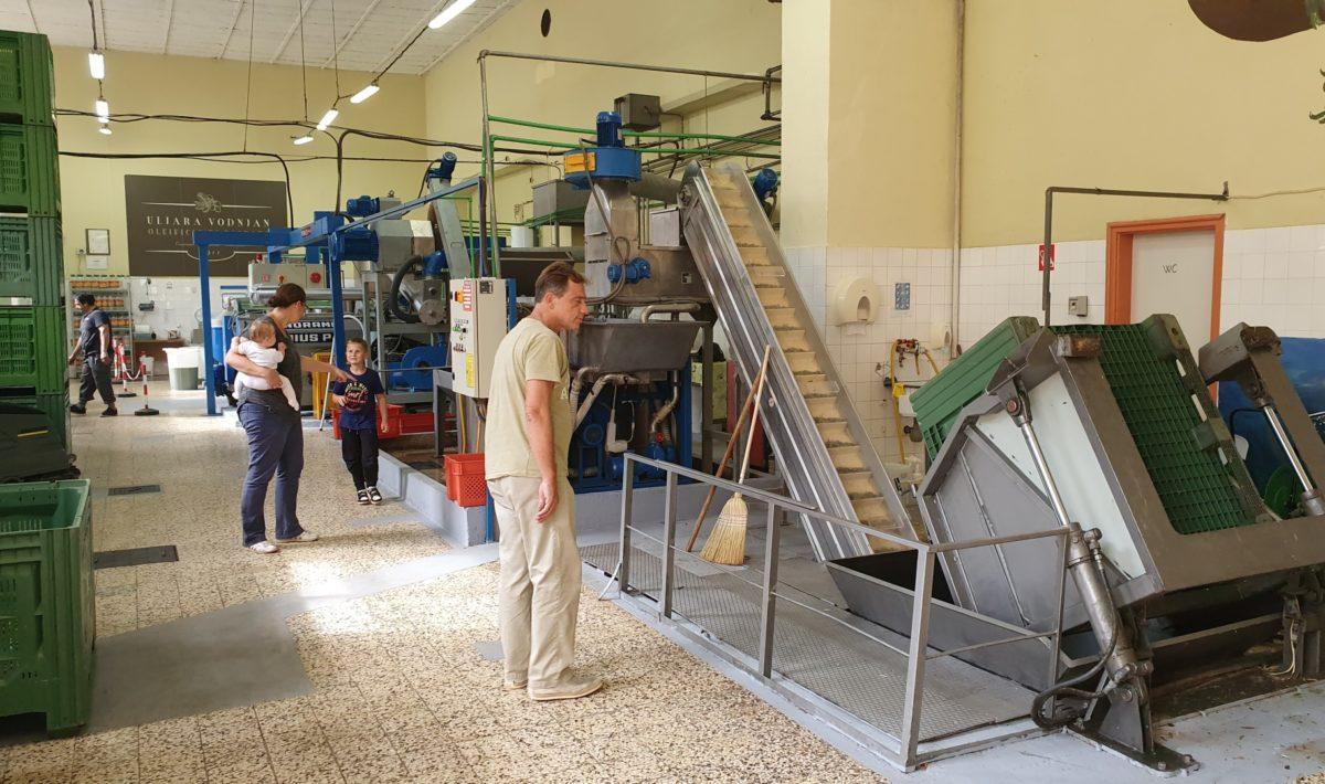 Die Maschinen in einer Olivenölraffinerie