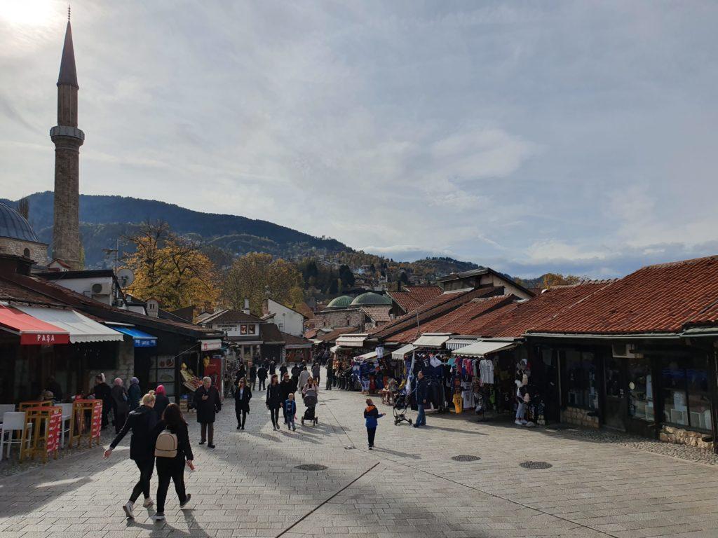 Balkan Roadtrip mit Baby - Altstadt von Sarajevo